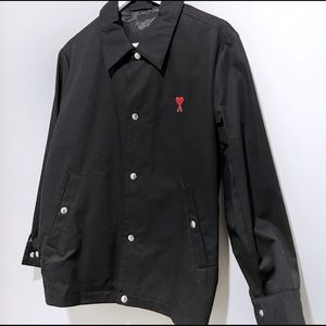 Ami jacket with red logo embroidered